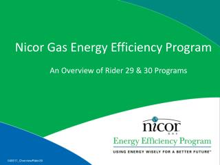Nicor Gas Energy Efficiency Program