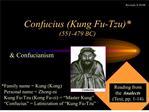confucius kung fu-tzu 551-479 bc