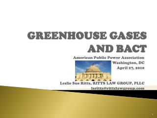 GREENHOUSE GASES  AND BACT