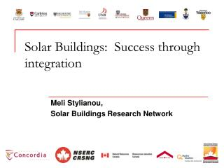 Solar Buildings:  Success through integration