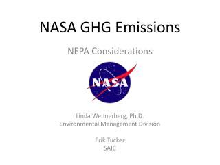 NASA GHG Emissions
