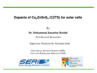Dopants of Cu 2 ZnSnS 4  (CZTS) for solar cells