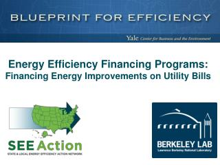 Energy Efficiency Financing  Programs: Financing Energy Improvements on Utility Bills