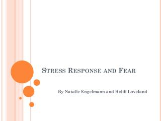 Stress Response and Fear
