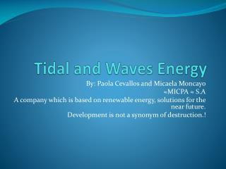 Tidal  and  Waves Energy