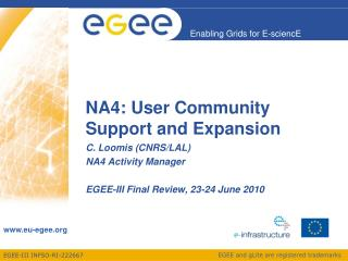 NA4: User Community Support and Expansion