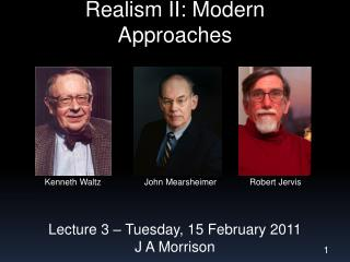 Realism II: Modern Approaches