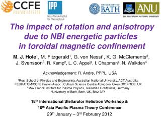 The impact of rotation and anisotropy due to NBI energetic particles  in  toroidal  magnetic confinement