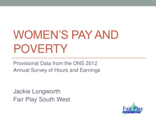 Women's Pay and Poverty