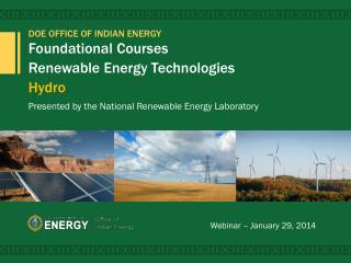 Foundational Courses  Renewable Energy Technologies Hydro