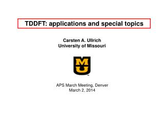 TDDFT: applications and special topics