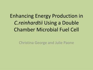 Enhancing Energy Production in  C.reinhardtii  Using a Double Chamber Microbial Fuel Cell