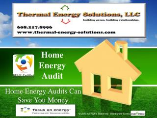 Home Energy Audits  Can Save You Money