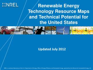 Renewable Energy Technology Resource Maps and Technical Potential for the United States