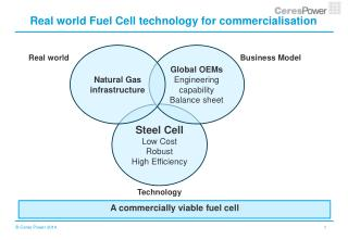 Real world Fuel Cell technology for commercialisation