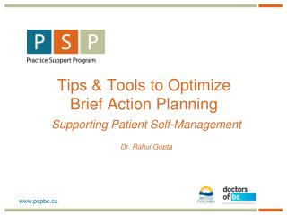 Tips & Tools to Optimize Brief Action Planning