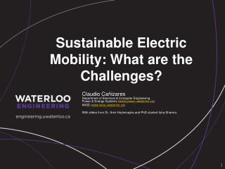 Sustainable Electric Mobility: What are  the  Challenges ?