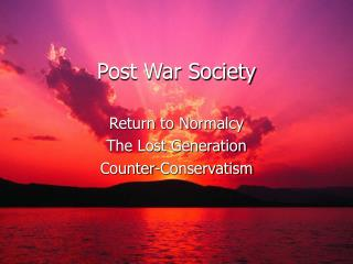 Post War Society