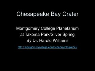 Chesapeake Bay Crater