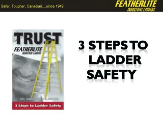 3 steps to  ladder safety