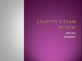 Chapter 8 Exam Review
