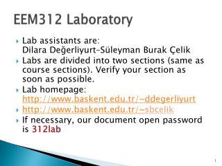 EEM312 Laboratory