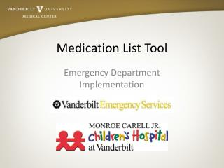 Medication List Tool