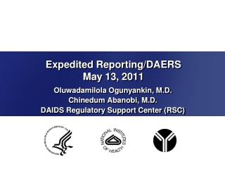 Expedited Reporting/DAERS  May 13, 2011