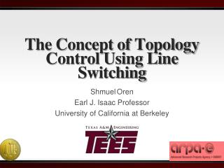 The Concept of Topology Control Using Line Switching