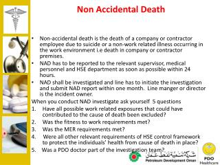 Non Accidental Death
