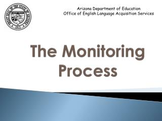 The Monitoring Process