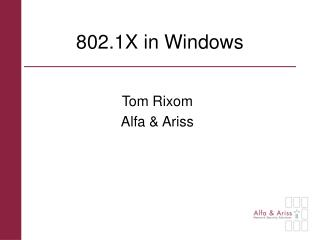 802.1X in Windows