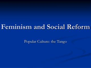 feminism and social reform