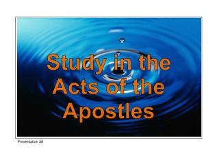 Study in the Acts of the Apostles