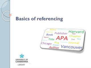 Basics of referencing