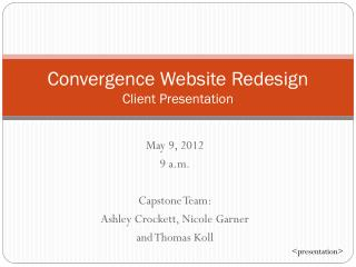 Convergence Website Redesign Client Presentation