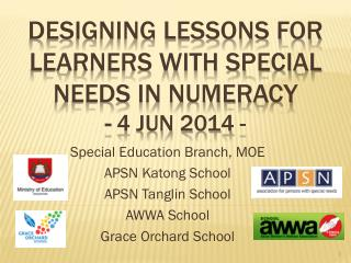 Designing Lessons for Learners with Special Needs in Numeracy  -  4 Jun 2014 -