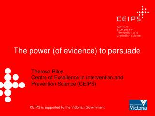 The power (of evidence) to persuade