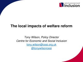 The local impacts of welfare reform