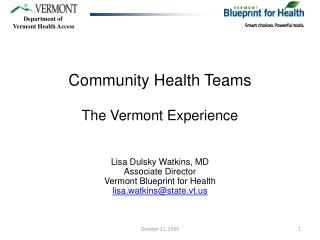 Community Health Teams The Vermont Experience