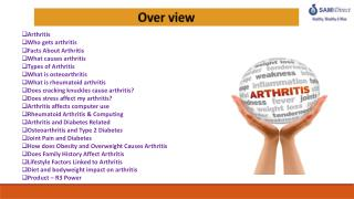 Arthritis Who gets arthritis Facts  About Arthritis  What causes arthritis  Types of Arthritis What  is osteoarthritis W