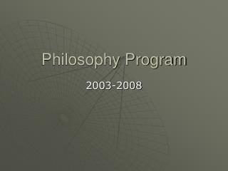 Philosophy Program