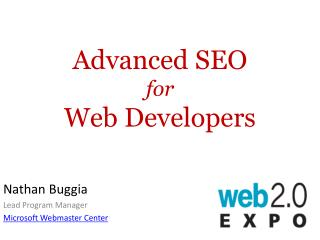 Advanced SEO  for Web Developers
