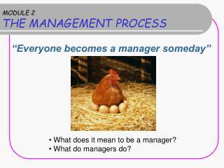 MODULE 2 THE MANAGEMENT PROCESS