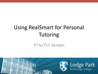 Using  RealSmart  for Personal Tutoring