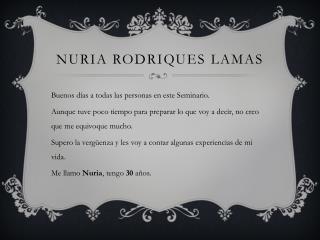 Nuria Rodriques Lamas