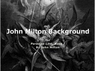 John Milton Background