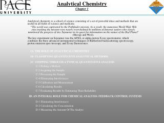 Analytical Chemistry Chapter 1