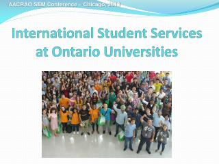 International Student Services at Ontario Universities