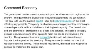 goals of the economy